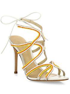 74c4e5e5c8d Schutz Meera Beaded Leather Sandals Was  240.00 NOW  57.60