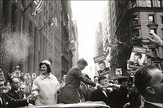 1960. 19 Octobre. New York. JFK and Jackie