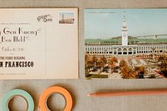 San Francisco Ferry Building Postcard Save the Dates