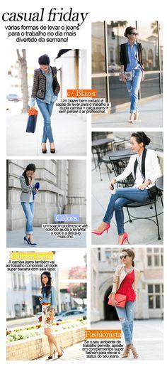 Casual Friday: como usar jeans no trabalho