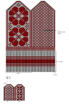 New knitting mittens selbu Ideas Knitting Charts, Baby Knitting Patterns, Lace Knitting, Knitting Machine, Crochet Mittens Free Pattern, Knitted Gloves, Tapestry Crochet, Embroidery, Charts