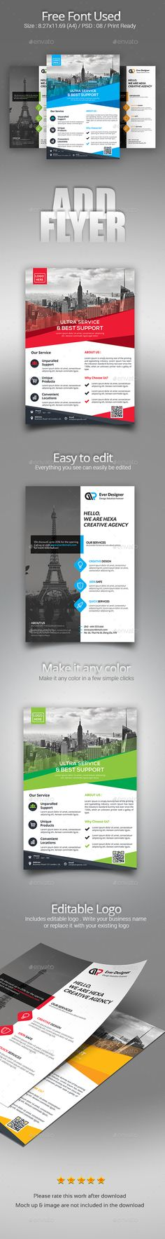 Flyer Flyer template, Brochures and Graphics - corporate flyer template