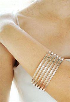 sterling silver plain bangle