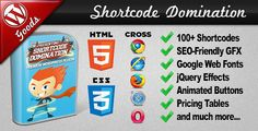 Shortcode Domination Premium WordPress Plugin - Shortcode Domination is a fun to use & interactive Premium WordPress Plugin that is currently available for purchase on the CodeCanyon website and as the name suggests, is feature packed with WordPress shortcodes.    This plugin is unique in its approach as it uses CSS3 and HTML5 as a major factor in the design process to enhance the output of the 100+ available shortcodes.