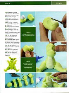 MANITAS CREATIVAS Y ALGO MAS: Porcelana fria -Dragoncito