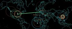 Real time cyber attack map