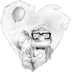4 Awesome pixar up drawings ellie images Up Pixar, Studio, Drawings, Awesome, Illustration, Image, Drawing Ideas, Art, Tattoos