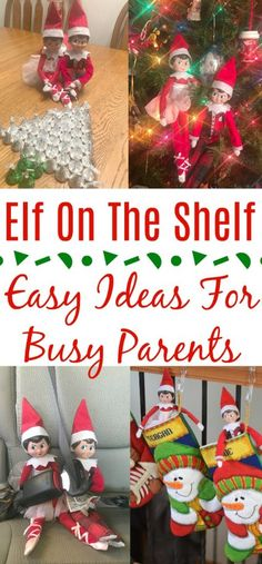 Elf On The Shelf - Easy Ideas For Busy Parents easy elf on the shelf ideas creative elf on the shelf ideas favorite elf on the shelf ideas ideas for two elves on the shelf elf on the shelf - two elves Christmas Games For Kids, Christmas Activities, All Things Christmas, Simple Christmas, Christmas Holidays, Christmas Crafts, Christmas Recipes, Xmas, Christmas Tree