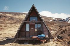 ellithor:  Early morning naps on the deck of my favourite A-frame….Kodak Ultramax400