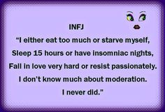 INFJ in extremes