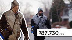 76.000 Euro für einen Mann gesammelt, der jeden Tag 33 km zur Arbeit läuft