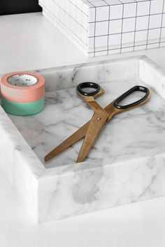 Marble, Brass and Pastel tones. What more do you need!