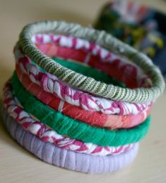 This is such a great idea! You could have new bracelets every day.