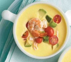 "See the ""Cold Southwestern Corn and Shrimp Soup"" in our Blender to Bowl: Chilled Summer Soup Recipes gallery Summer Soup Recipes, Quick Soup Recipes, Raw Food Recipes, Cooking Recipes, Cooking Time, Dinner Recipes, Corn Recipes, Cooking Food, Delicious Recipes"