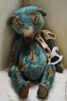 Купить Lost Bear.... - мишка, мишка тедди, голубой, мишка ручной работы