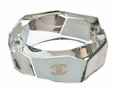 Chanel Chrome and White Cuff