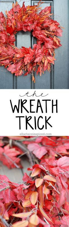 Use this easy DIY tip to make your wreath look full, thick and expensive!