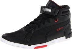 7966b325ecf Amazon.com | Puma Men's Xelerate Mid Ducati Sneaker, Black/Black/High Risk  Red, 6 D US | Fashion Sneakers
