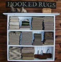 The Wool Cupboard: lots of great wool storage