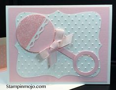 Trendy Baby Girl Cards Stampin Up Punch Art 68 Ideas Baby Girl Cards, New Baby Cards, Stampin Up Karten, Stampin Up Cards, Baby Shower Card Sayings, Baby Shower Cards Handmade, Handgemachtes Baby, Diy Baby, Baby Art