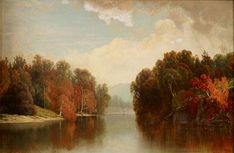 William Mason Brown - Early Autumn on the Susquehanna offered by Jeffrey Tillou Antiques on InCollect Hudson River School Paintings, Early Autumn, Autumn Painting, Romanticism, Landscape Paintings, Oil On Canvas, Fine Art, Antiques, Brown