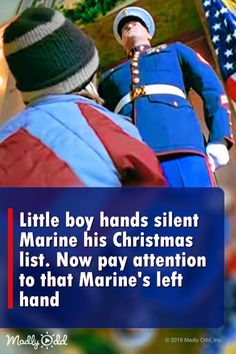 Little boy hands Marine his Christmas list. Now pay watch the Marine's hand Marine Mom, Marine Corps, Charity Run, Tv Ads, Humanity Restored, Marines, Usmc, Twisted Humor, Faith In Humanity