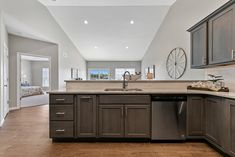 This new construction ranch-style home in Columbia, IL is perfect for young couples or empty-nesters. Home Staging Companies, Young Couples, Ranch Style, New Construction, St Louis, Double Vanity, Empty, Columbia, Room