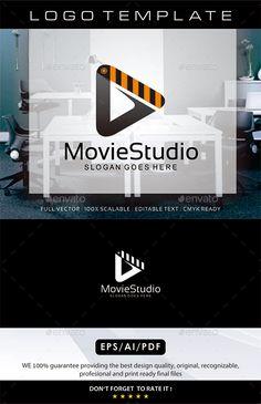 Movie Studio  Logo Design Template Vector #logotype Download it here: http://graphicriver.net/item/movie-studio-logo/11945403?s_rank=647?ref=nexion
