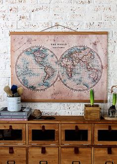 bySue / Print  CABINET OLD MAP A1
