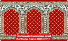 Red Mosque Carpet Yasin Design Soraya Kavir Manufacturer Specialist Producer