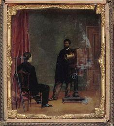 O.H. Willard (American)  Séance de pose chez un photographe  1855 (ca) Daguerreotype  Musée d'Orsay