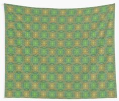 """""""""""Oak King"""", bohemian pattern in yellow and green tones"""" Wall Tapestries by clipsocallipso 