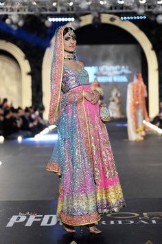 Nomi Ansari http://nomiansari.com.pk/ Pakistan at PFDC L'Oreal Bridal Fashion Week (Oct) 2013
