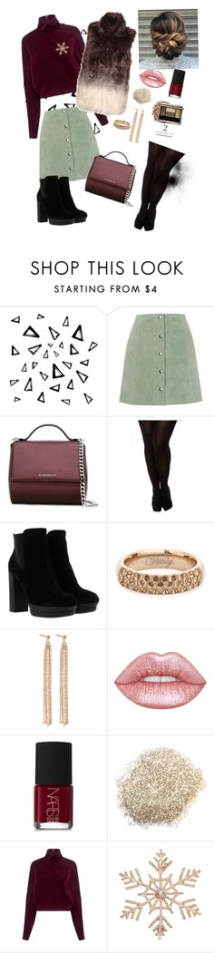 """""""Winter outfit"""" by oladda on Polyvore featuring moda, Nika, Topshop, Givenchy, City Chic, Hogan, Vitaly, Charlotte Chesnais, Lime Crime e NARS Cosmetics"""