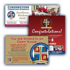 Cornertosne Christian Schools - Magazine Ads | Flyer