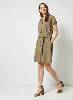 af04a92c225 29 Best khaki shirt images | Feminine fashion, Ladies fashion ...