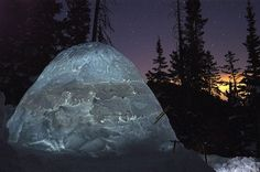 I will be making this in my front yard. Dang I'm so stoked. Winter Camping, Winter Fun, Shelters, Scouts, Campers, Tent, Yard, Sky, Spaces