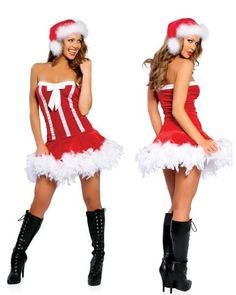 Sweet Santa Adult ML Roma Costume - Christmas Dress Costume Sexy Adult Costumes, White Halloween Costumes, Christmas Costumes, Costumes For Women, Reindeer Costume, Santa Costume, Red And White Dress, Santa Dress, Christmas Lingerie
