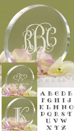 Personalized Acrylic Circle Cake Topper