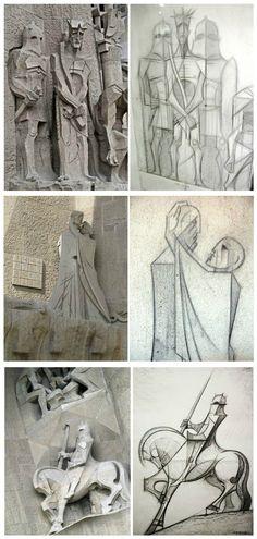 The Sagrada Família sculpture by Josep Maria Subirachs i Sitjar (11 March 1927 – 7 April 2014).
