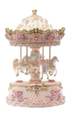 Music box vintage carousel beautiful 68 Ideas for 2019 Faberge Eggs, Carousel Horses, Trinket Boxes, Pretty In Pink, Snow Globes, Musicals, Decoration, Shabby Chic, Merry