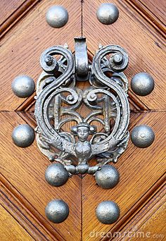 Door knocker in the form of woman with wings Door Knockers Unique, Door Knobs And Knockers, Knobs And Handles, Door Hinges, Cool Doors, Unique Doors, When One Door Closes, Door Detail, Door Furniture