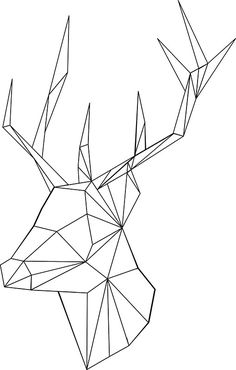 """Geometric Deer"" Stickers by OneAlice 