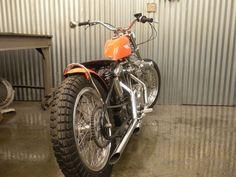 1970 Harley Davidson KR-1000 Ironhead Street Tracker w/ 1977 motor. From vintagehdracers.com