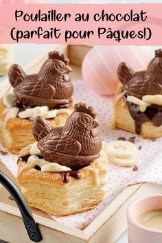 Une gâterie toute mignonne pour se sucrer le bec! Dessert Simple, Bon Dessert, Dessert Recipes, Easter Decor, Good Food, Gluten, Nutrition, Sweets, Breakfast