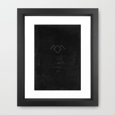 Twin Peaks no 3 Framed Art Print by OurbrokenHouse - $37.00