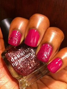 Polish Obsession: Deborah Lippmann - Some Enchanted Evening (over H Pinkish)