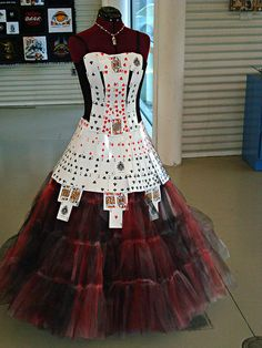 TRASHION FASHION EXHIBIT 2012 by Urban Woodswalker, via Flickr. playing card dress  Repurposed Fashion | Trashion | Refashion | Upcycled Fashion