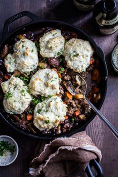 Sausage Biscuit Skillet with Guinness by Jelly Toast