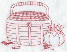 Sewing Basket (Redwork)